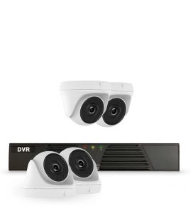 HIKVISION HIWATCH 4 CHANNEL DVR WITH 4 X 2MP TURRET HD CAMERA